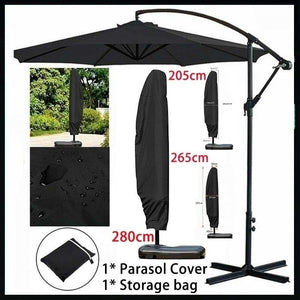 280Cm /265Cm /205Cm Large Parasol Cover Banana Umbrella Cover Cantilever Garden Patio Shield Waterproof Outdoor Cover (Only Including Cover)