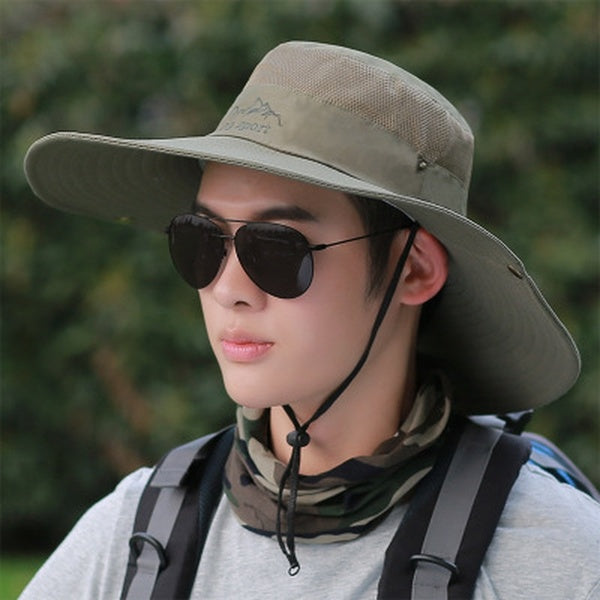 Big brim sun hat men's summer outdoor climbing sunscreen sun hat fishing anti-ultraviolet fishing fisherman hat