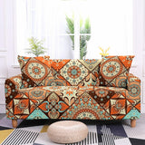 Bohemian Sofa Cover Stretch Mandala Couch Cover Elastic Sofa Cover for Living Room Sofa Protector Pet Sofa Cover Corner Sofa Cover L Shaped Couch Cover Housse Canape Sofa Cover 1/2/3/4 Seaters