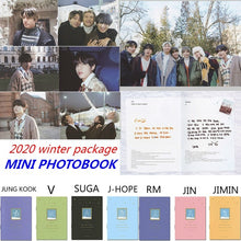 Load image into Gallery viewer, Kpop Bangtan Boys 2020 Winter Package Official Mini Photobook JIMIN V SUGA JK J-HOPE RM JIN Photocards Best Gifts For Fans 8 Pages