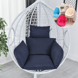 Hanging Egg Hammock Chair Cushion Swing Seat Cushion Thick Nest Hanging Chair Back 2 Style for Choose NO CHAIR
