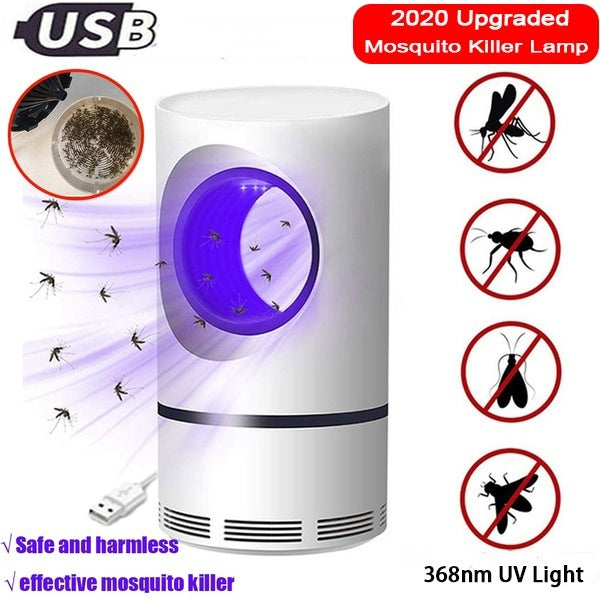 NEW!!! 2020 Electronic Mosquito Trapper UV Mini/USB Rechargeable Non-toxic Mosquito/Insect Killer LED Light Trap Pest Control Lamp Safety