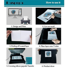 Load image into Gallery viewer, 10 Sheets A4 Size 3D Sublimation Heat Transfer Paper Dye Sublimation for Phone Case / Mugs /Mouse Pad/Ceramics/Non-Cotton T-shirt