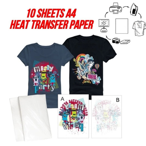 10 Sheets A4 Size 3D Sublimation Heat Transfer Paper Dye Sublimation for Phone Case / Mugs /Mouse Pad/Ceramics/Non-Cotton T-shirt
