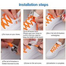 Load image into Gallery viewer, 1 Pair Fashion Magnetic Shoelaces Elastic No Tie Shoe Laces Kids Adult Unisex Flat Sneakers Shoelace Quick Lazy Laces