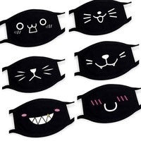 Load image into Gallery viewer, 1 pcs Cute Cartoon Face Masks Dust Mask Men and Women Cotton Face Masks