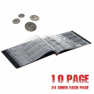 Money Coin Storage Book Commemorative Penny Coin Collection Album Holder (480 Pocket 20 Page / 240 Pocket 10 Page )