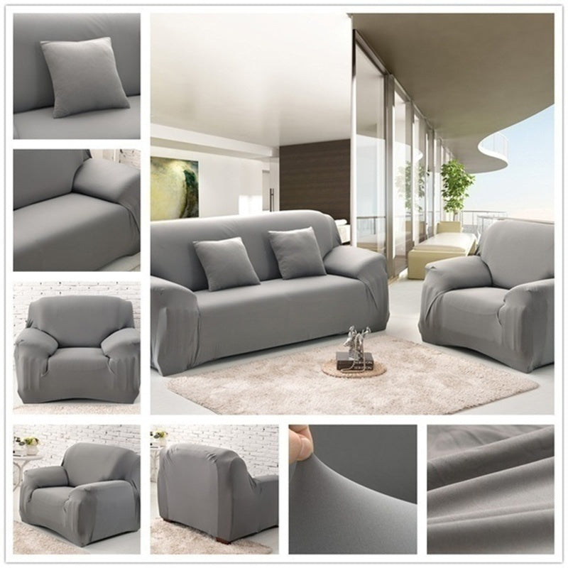 Home Decor Elastic Sofa Covers Solid Color Sofa Couch Modern Soft Couch Slipcover Chair Protector Living Room 1/2/3/4 Seater