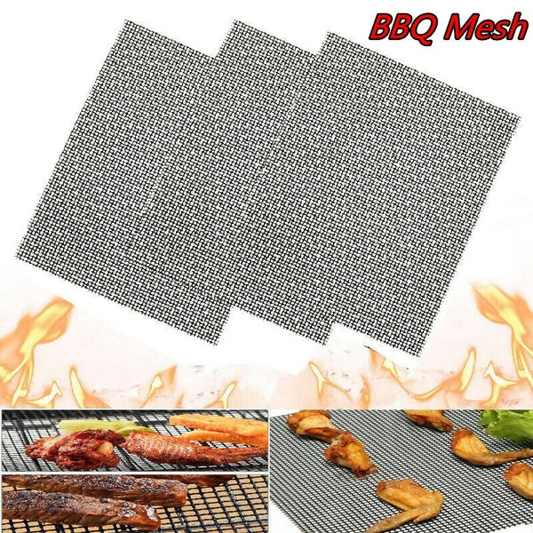 1/2/3Pcs Grill Mat BBQ Mesh Non Stick Teflon Cooking Fish Meat Grilling Sheet Liner