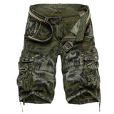 New Men's Street Fashion Camouflage Military Cargo Shorts Plus Size 28-42