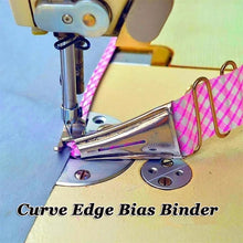 Load image into Gallery viewer, Household Presser Foot Overlocking Quilting Splicing Cloth Tool Curve Edge Bias Binder Sewing Machine Sewing Accessories
