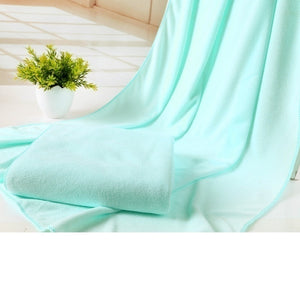 New50cm*70cm Soft Throw Blanket Warm Coral Plaid Blankets Travel Flannel Sofa Solid Color Fleece Blankets