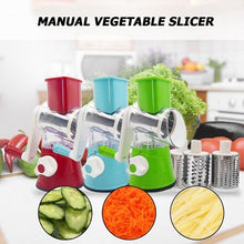 Load image into Gallery viewer, Manual Vegetable Cutter Slicer Multifunctional Round Mandoline Slicer Potato Cheese Kitchen Gadgets Kitchen Accessories