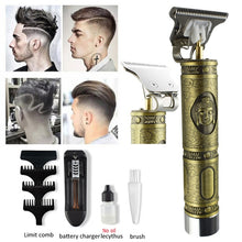 Load image into Gallery viewer, 2020 Professional Electric Hair Clipper Barber Haircut Retro Sculpture Cutter Rechargeable Razor Trimmer Cordless Edge for Men