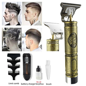 2020 Professional Electric Hair Clipper Barber Haircut Retro Sculpture Cutter Rechargeable Razor Trimmer Cordless Edge for Men