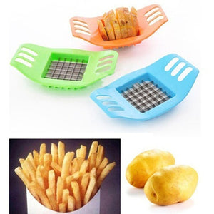 French Fry Potato Chip Cut Cutter Chopper Chipper Blade Vegetable Home Fruit Slicer