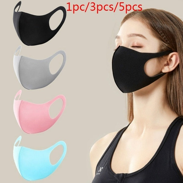 1pc/2pcs/3pcs Summer Ice Silk Cotton Washable Face Mask Breathable and Comfortable 3d Mas