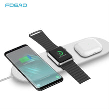 Load image into Gallery viewer, FDGAO 3 In 1 20W Qi Fast Wieless Charger Pad Phone Charging Dock Charging Station for Apple Watch 5 4 3 2 1 Airpods Apple Iphone SE 11 Pro Max X Xs Xr 8plus Samsung S20 S10 S9 Huawei P40 P30 Pro Xiaomi and ALL QI-Standard Smartphones