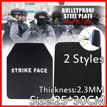 Load image into Gallery viewer, 2.3mmNIJ IIIA Bulletproof Steel Plate High-tech Safety Equipment Armor Gendarmerie Tactical Independent Stab-resistant Chest