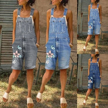 Load image into Gallery viewer, Summer Fashion Women's Loose Denim Bib Pants Overalls Jeans Shorts Denim Shorts Women Jumpsuits Rompers