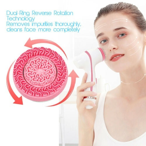 Electric Face Cleaner Brush Silicone Facial Cleansing Pore Blackhead Machine Skin Care Cleaning Products