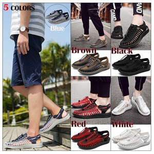Men High Quality Handmade Summer Fashion Breathable Shoes Water Weave Beach Shoes Casual Sandals