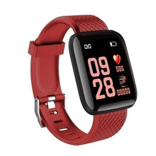 Load image into Gallery viewer, 2020 116 Plus New Smart Watch Bluetooth Sports Watch USB Rechargeable Heart Rate Oxygen Pressure Sleep Monitor Blood Pressure Passometer Alarm Clock Wristwatch Wearable Device for IOS Android Phone