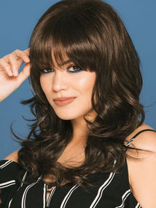 Natural Body Wave Capless Wig With Full Bangs 18 Inches Long Soft Human Hair Wig For Black Women