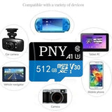 2020 new high speed PNY tf card 512GB 256GB 128GB 64GB 32GB 1GB 512MB USB drive Micro SD Micro SDHC Micro SD SDHC card 10 UHS-1 TF memory card + card reader