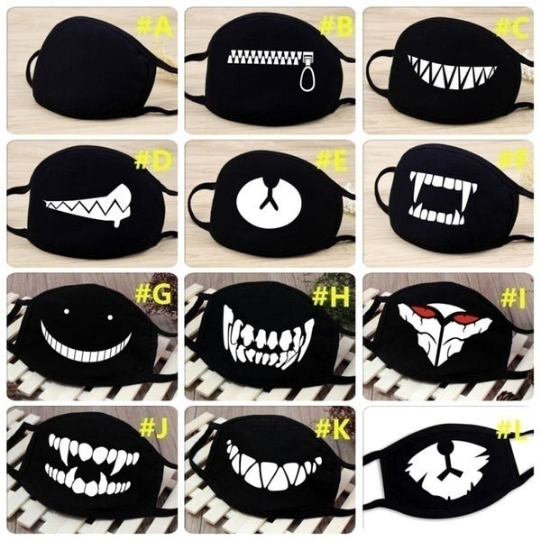 Breathable & Soft Cotton Dust Masks Mouth Muffle Scary Face Masks for Men/Women/Children (All Season Available)