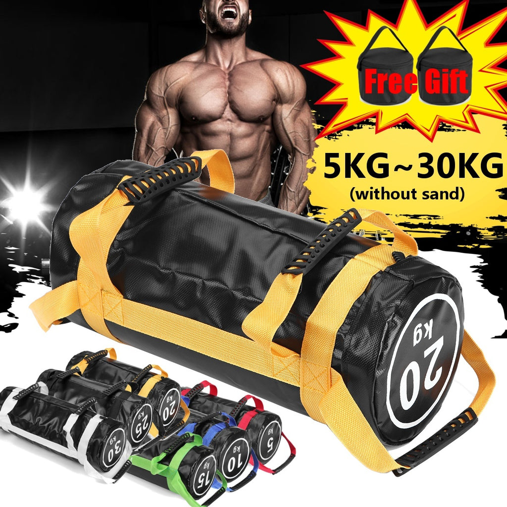 40/50/60lbs Weight Lifting Sandbag Boxing Fitness Workout Equipment Physical Training Exercises Power Bag Core Strength Training Explosive Power Training