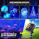 8 Model Solar Outdoor Waterproof LED String Lights / USB String Lights Party, Terrace, Garden, Gate, Courtyard, Wedding Decoration
