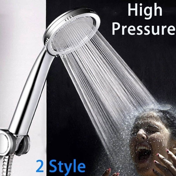 2 Styles High Pressure Shower Head Bathroom Powerful Energy Water Saving Sprinkler Bathroom Accessories