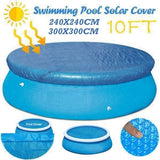 Anti-Evaporation and Leaves Swimming Pool Insulation Film, Round Pool Cover Protector  Above Ground Blue Protection Swimming Pool Wedding Party Gifts (Blue)