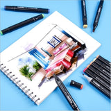 120/80/60/40/30/24/18 colors of alcohol drawing pens, double-tip coloring pen set, colorless blender, fine and chiseled alcohol drawing pens, double-headed marker set for children's sketches for adult coloring