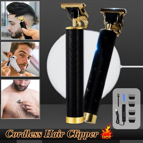 Rechargeable Cordless Hair Clippers Men Grooming Kits T-Blade Shaving Beard Trimmer Hair Cutting Professional Hairdressing Scissors Barber Salon Set