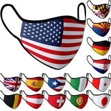 Unisex Adults Face Covers NationalFlag Print Cotton Reusable And Washable Mouth Cover 1PC