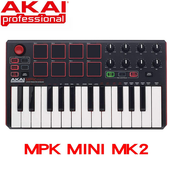 ultra portable USB MIDI drum pad and keyboard controller