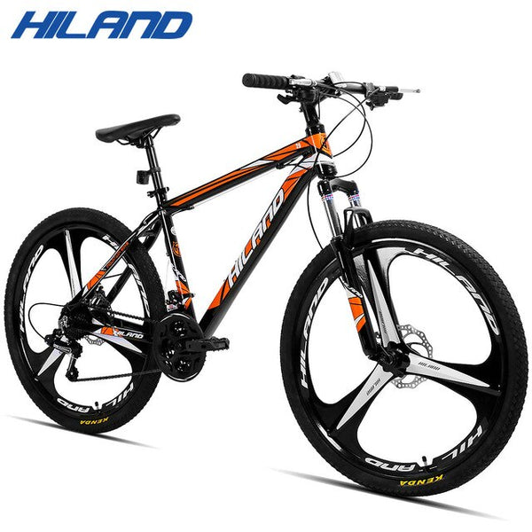 HILAND Bicycle 26'' 21 Speed Suspension Mountain Bike,Mechanical Disc Brake with TZ50 and TEC Chains,CTS Tires