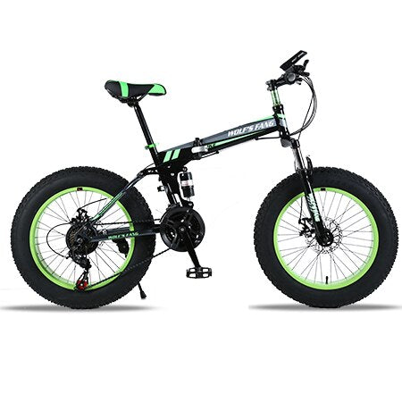 wolf's fang Bicycle Mountain bike 21 speed Fat Road Snow bikes 20*4.0 Front and Rear Mechanical Disc Brake New Free shipping
