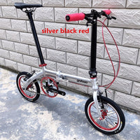 Folding Bike Aluminun Alloy 412 14/16Inch Single-speed Outside Three-speed Mini Modification Kid Children's Bicycle