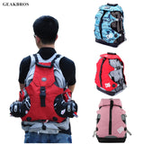 Men Women Roller Skates Backpack Inline Skates Skating Shoes Boots Carry Bag Kid Ice Skates Storage Knapsack Outdoor Sports Bag