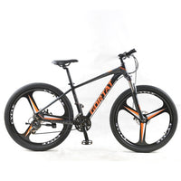 GORTAT Bicycle aluminum Mountain bike 27.5 Fat bike 24 Speed 3 cutter wheels bicycles the road bikes mtb Dual disc brakes
