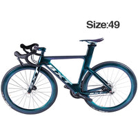 New Full Carbon Road Bike 700C*25C Tire Disc Brakes Carbon Fiber frame Ultra-light 11-speed Chameleon Complete Racing Bicycle