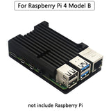 Raspberry Pi 4 Model B Dual Fans CNC Aluminum Alloy Case Metal 4 Color Armor Shell with Heat Sinks for Raspberry Pi 4B/3B+/3B