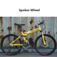 LOVELION Mountain Bike Carbon Steel Frame 24/26 Inch Wheel Dual Disc Brake 24/27 Speed Bicycle Outdoor Downhill Mtb Bicicleta