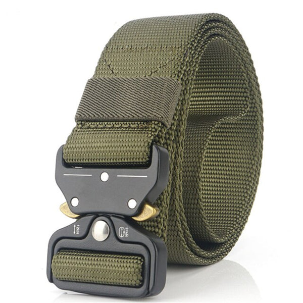New Outdoor Tactical Rigger Belt Quick Release Military Men's Belt Nylon Adjustable Heavy Duty Multi-functional Hanging Buckle
