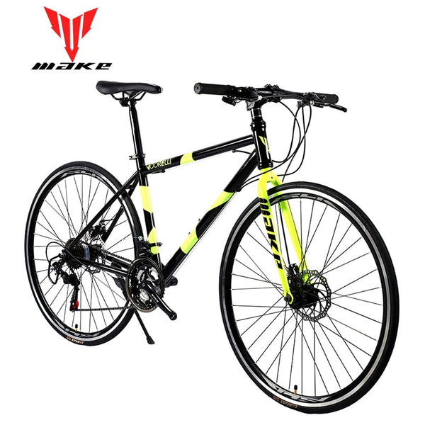 Road Bike MAKE 700X25C 21 Speed Disc Brakes Steel Frame