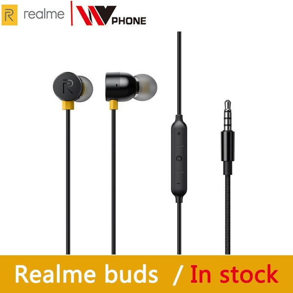 OPPO realme buds 2 earphone Built-in Magnes 11.2mm Bass Boost Driver Dual Tangle Free Design for realme x x2 x2 pro 3