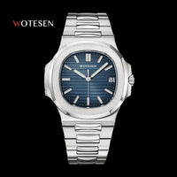 Men Top Brand Luxury Sports Watch Male Military Quartz watch Analog Date Clock steel luminous hand patek watch AAA nautilus 2020